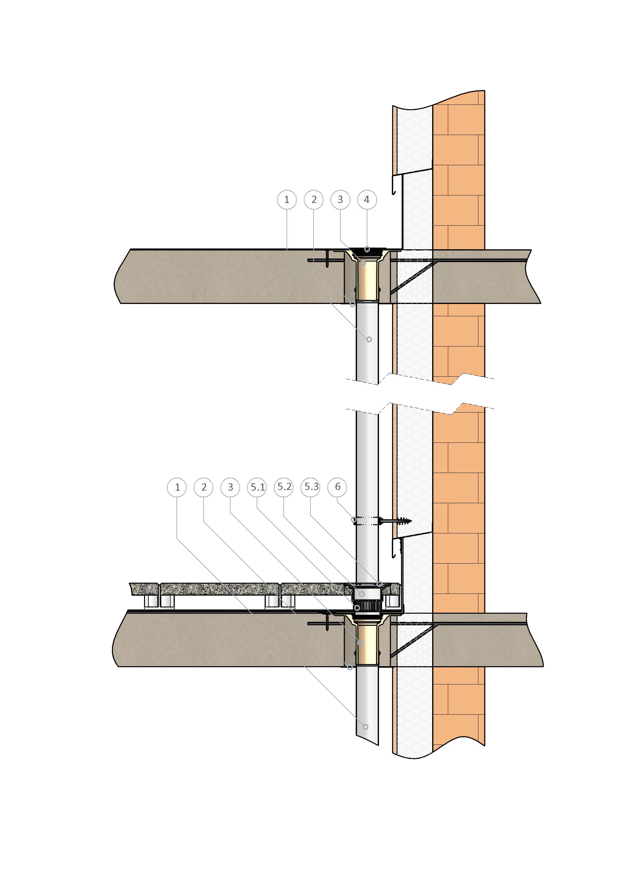 SitaCompact für die Linienentwässerung genutzer Dachflächen