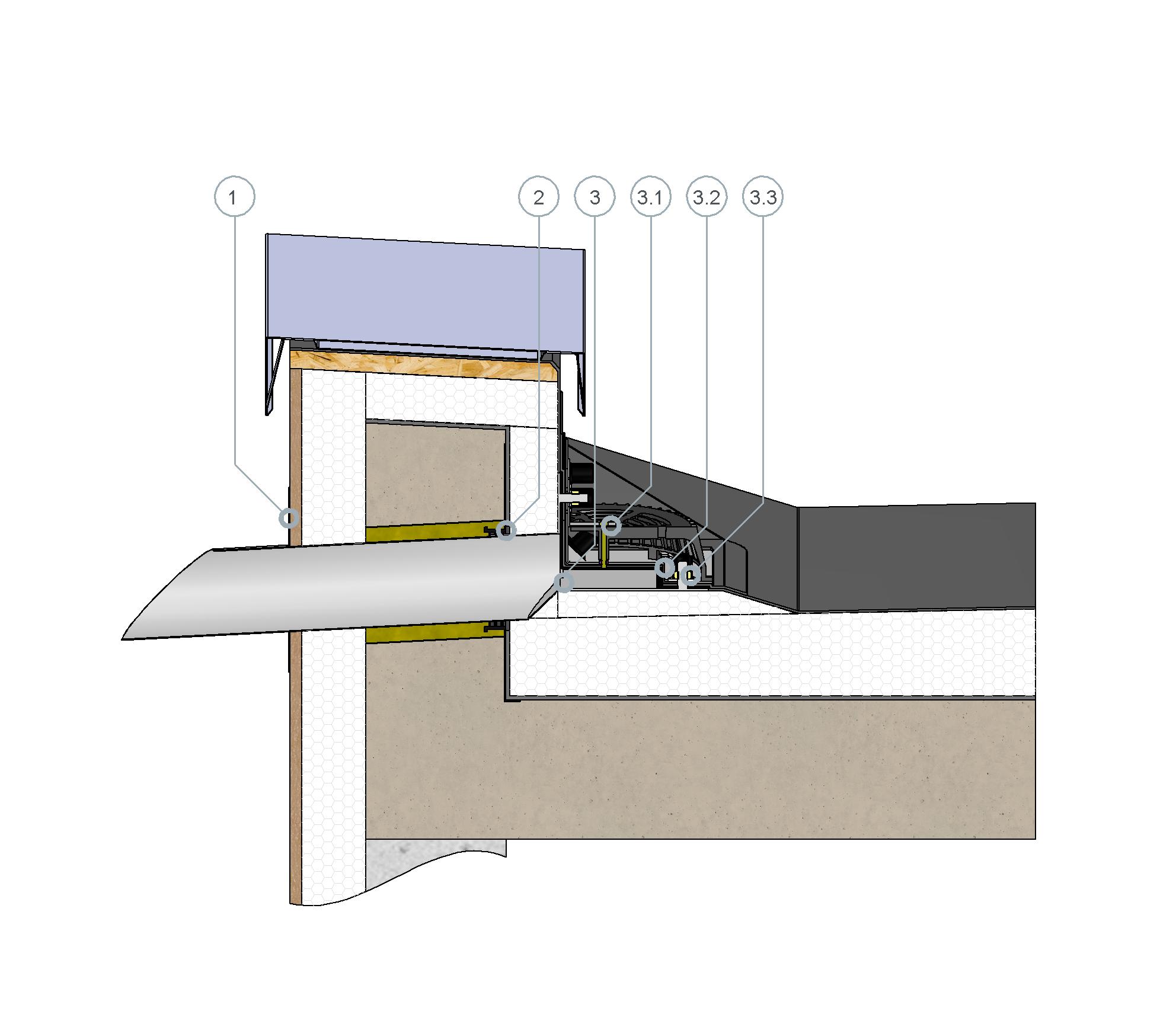 SitaRondo erhöht eingebaut im nicht belüfteten Dachaufbau