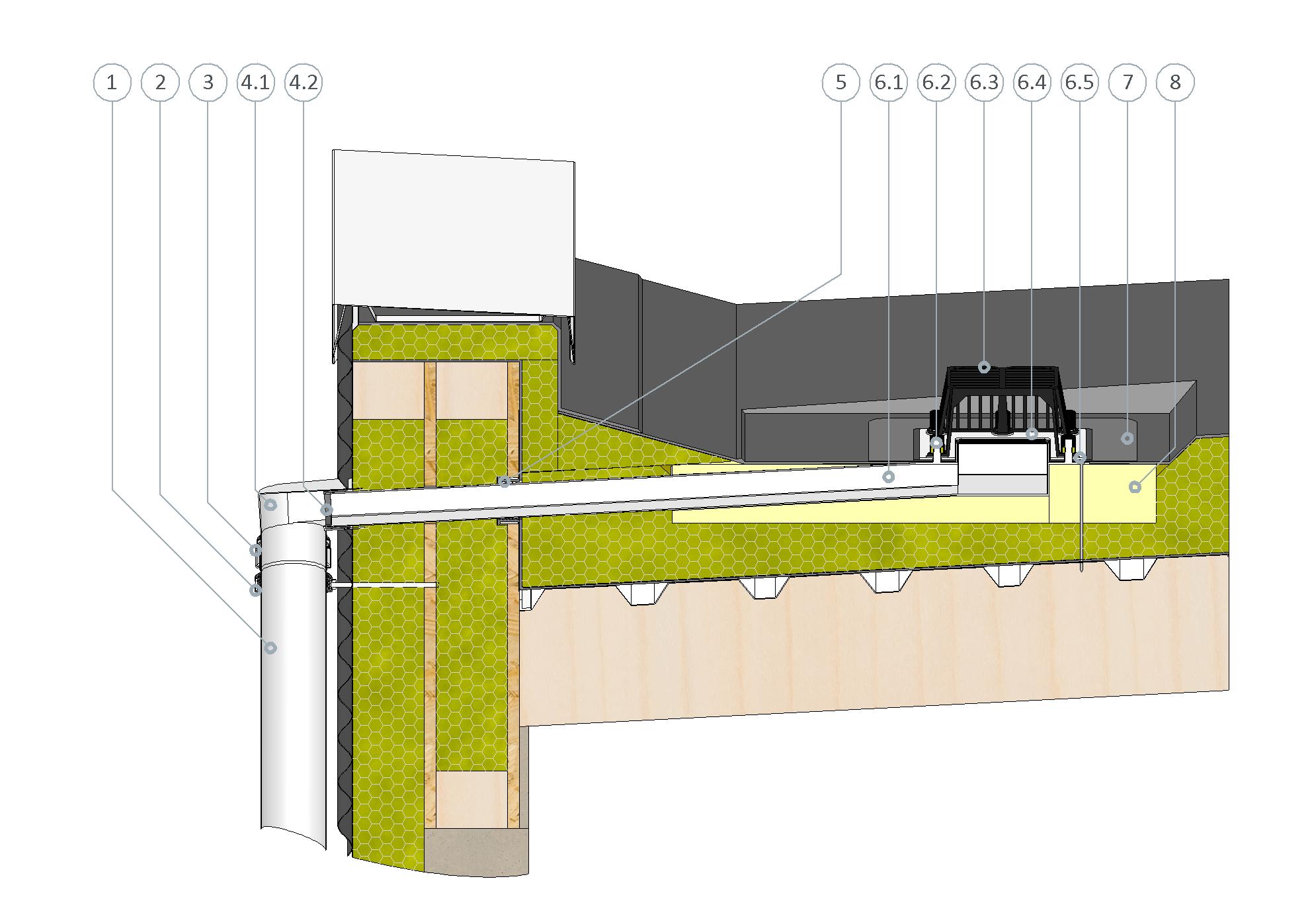 SitaTurbo für die Hauptentwässerung im nicht belüfteten Dachaufbau für Industriedächer