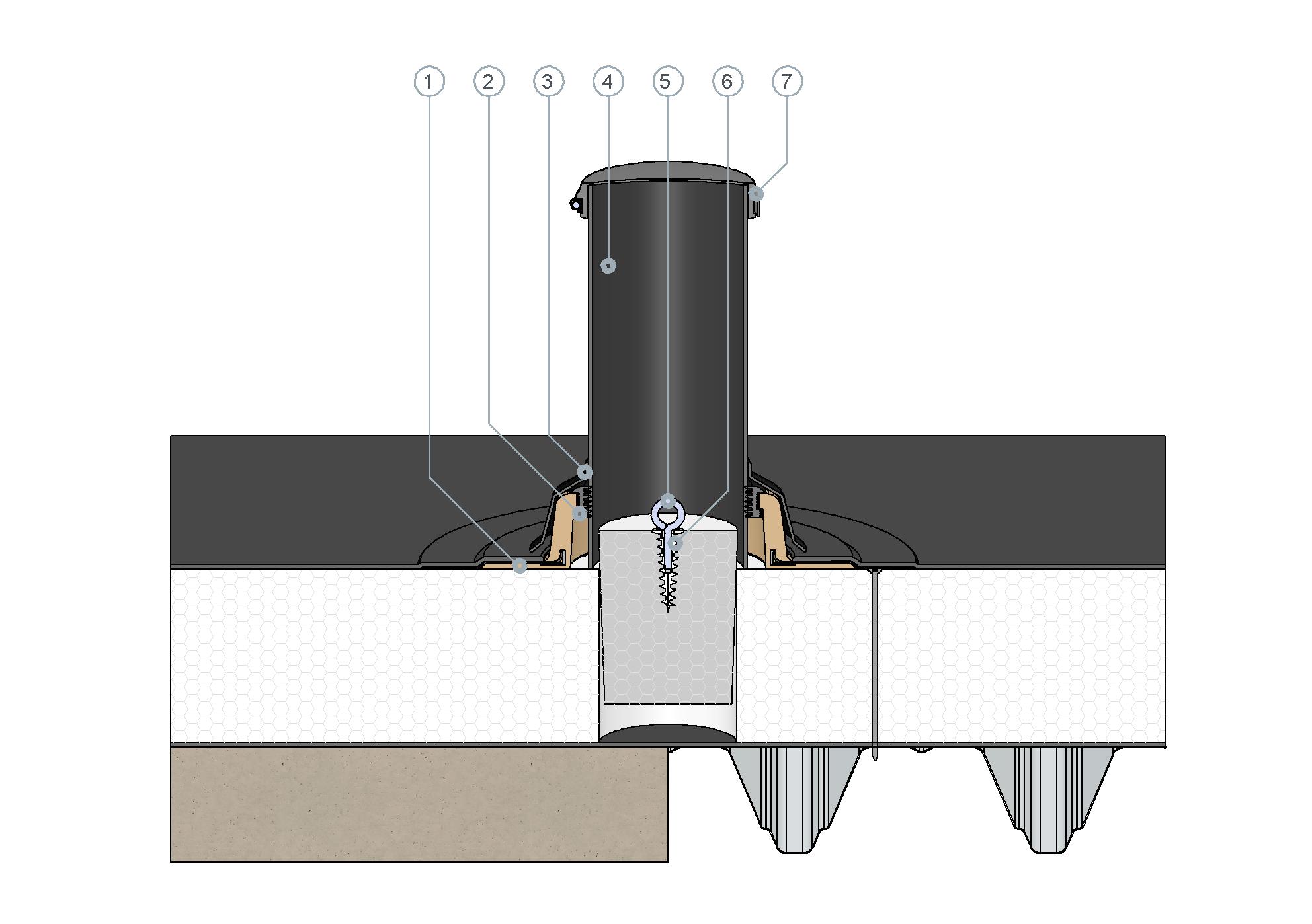 SitaVent Revision w niewentylowanej konstrukcji dachowej