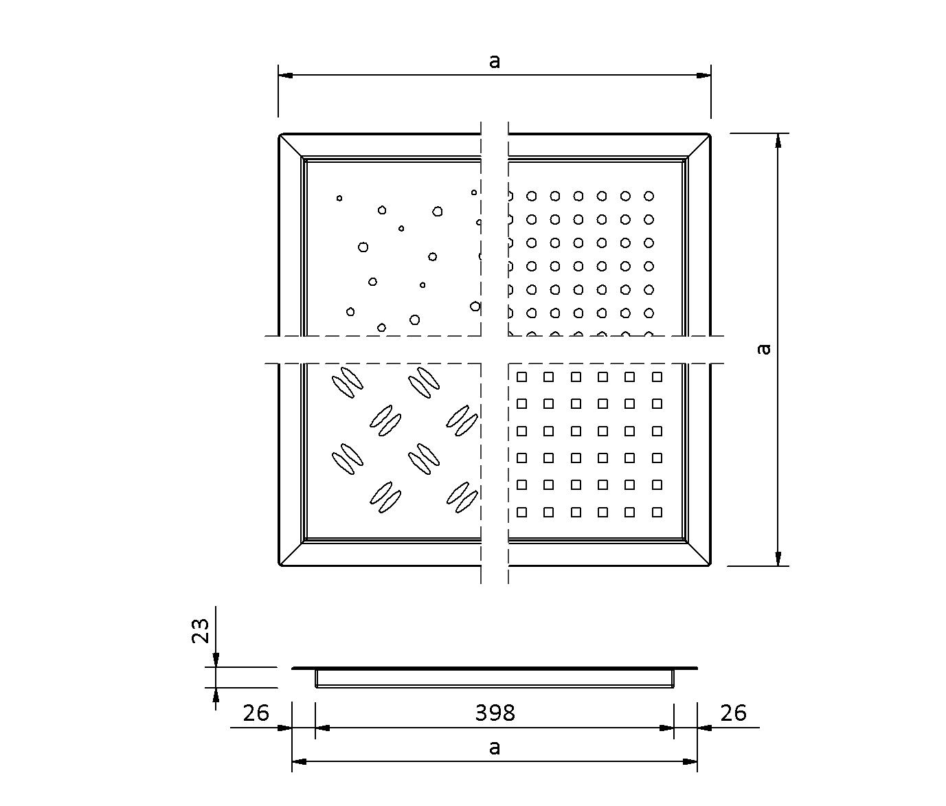 SitaDrain® Flächenrahmen  - Drainage