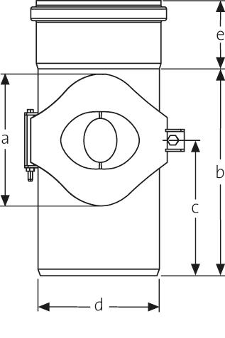 SitaPipe Edelstahl  - Reinigungsrohr