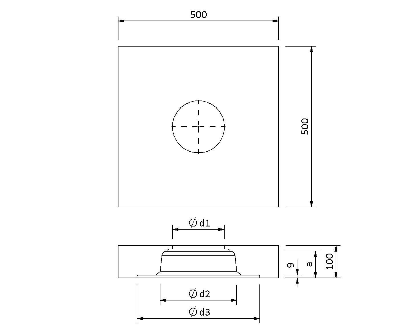 SitaVent  - Grundplatte Dämmkörper