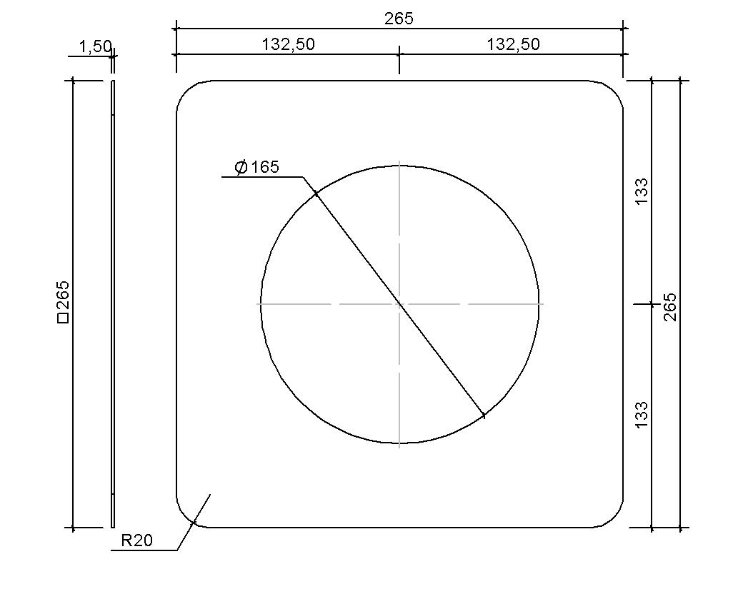 SitaAttika DN 150 - Fassaden-Abdeckplatte