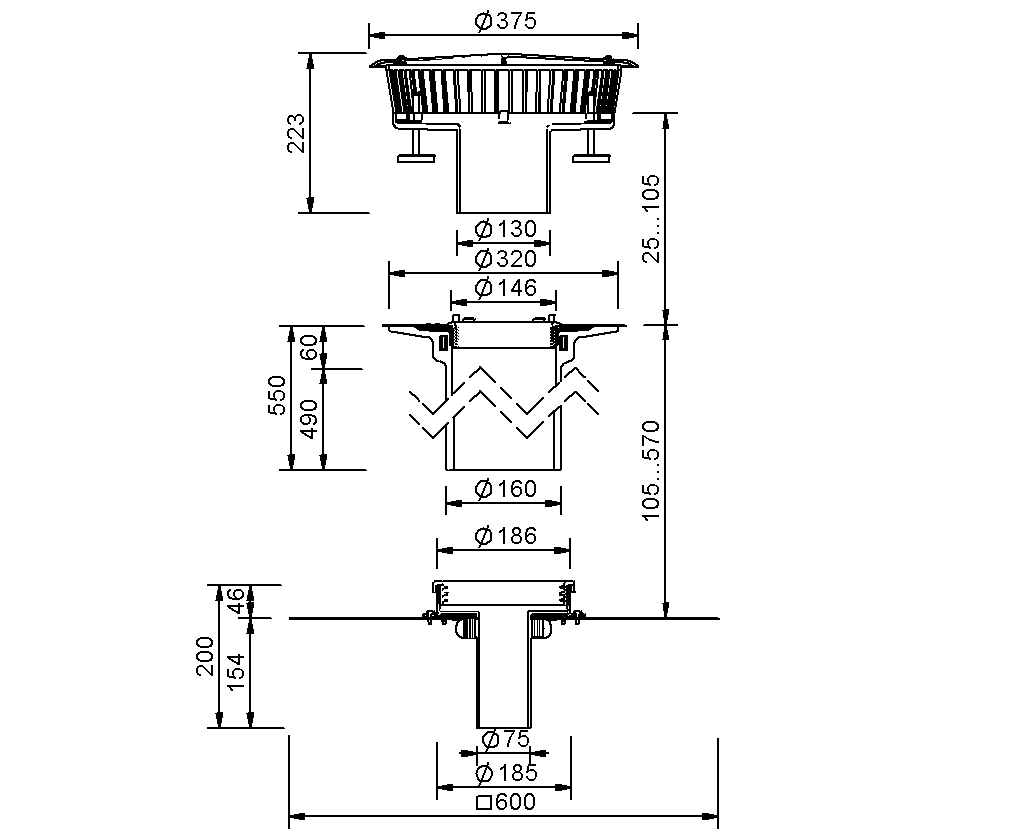 SitaFireguard® DN 70 - Odpływ przeciwpożarowy