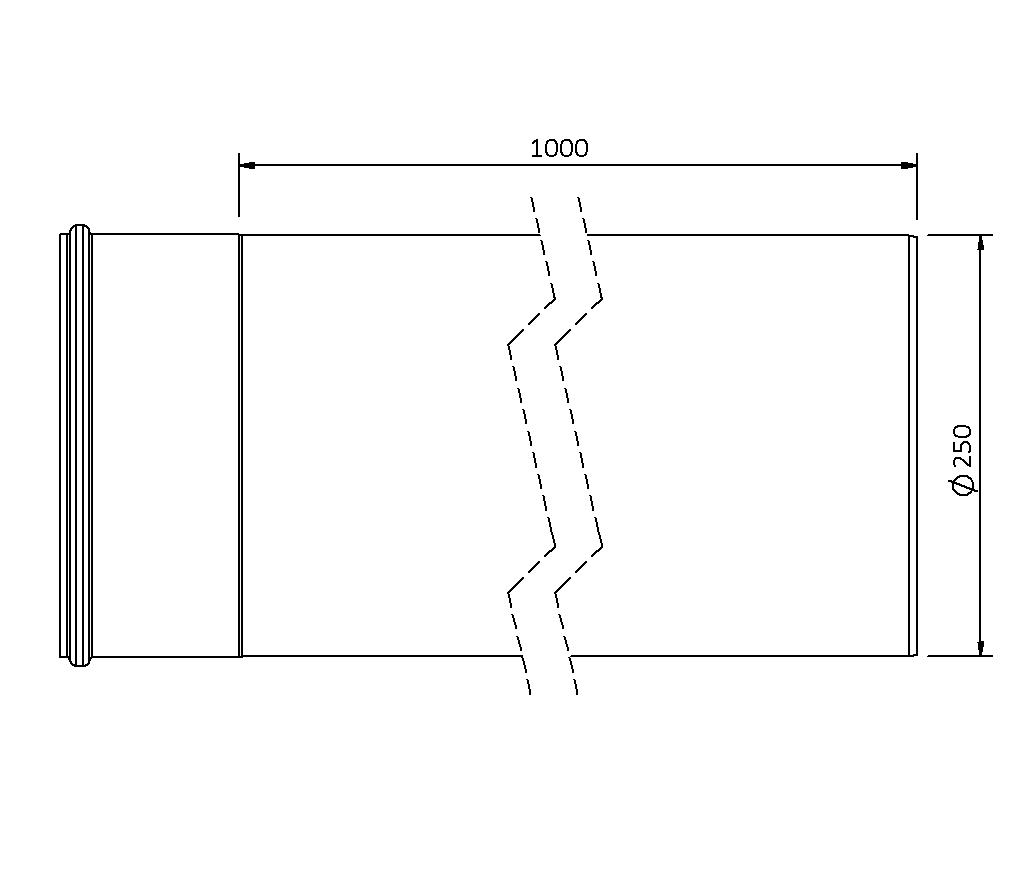 SitaPipe Edelstahl DN 250 - Rohr