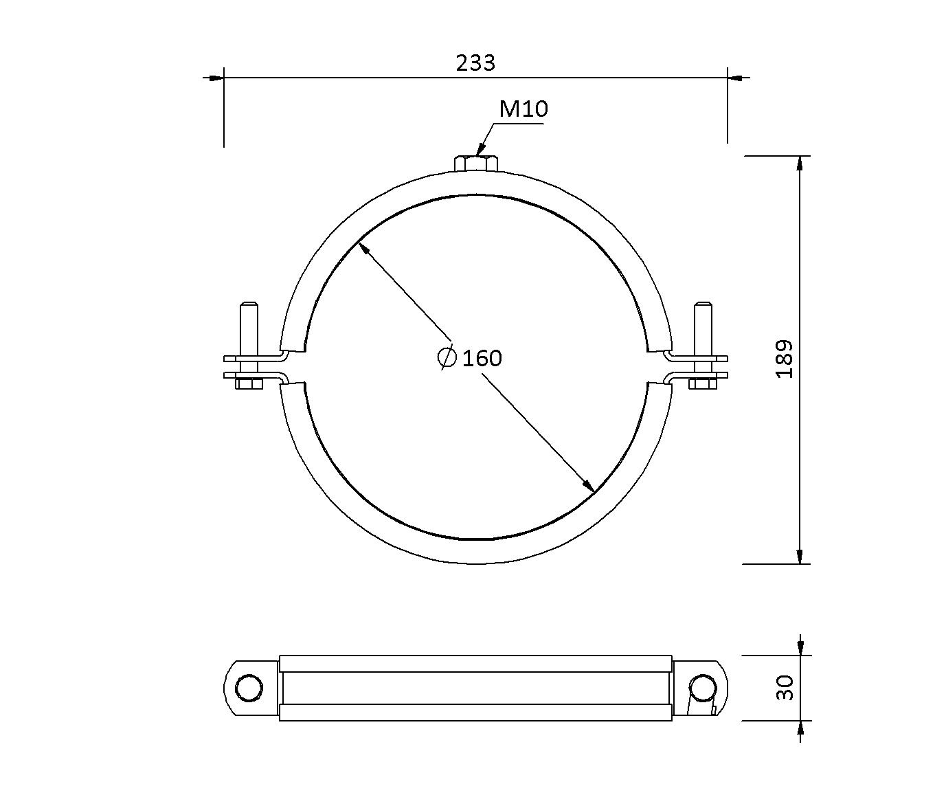 SitaPipe Edelstahl DN 150 - Rohrschelle
