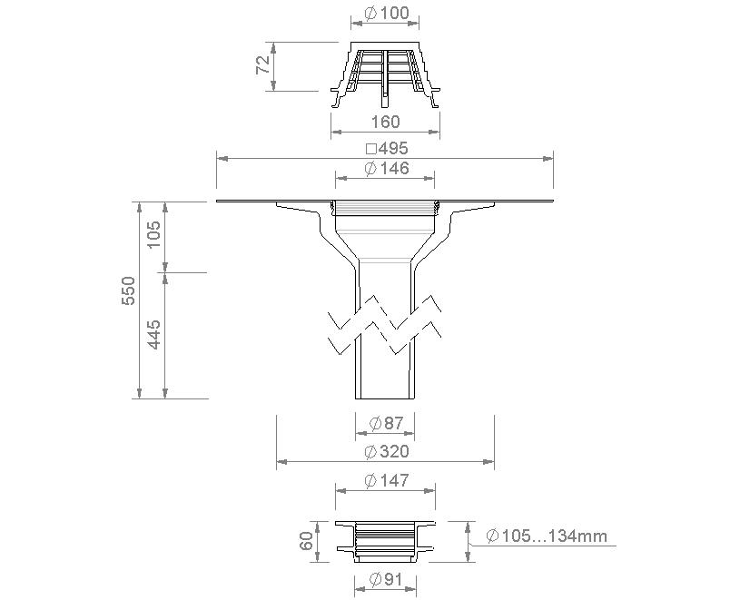 SitaSani® DN 105 - Sanierungsgully