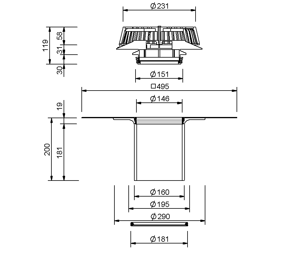 SitaSani® DSS DN 160 - Sanierungsgully