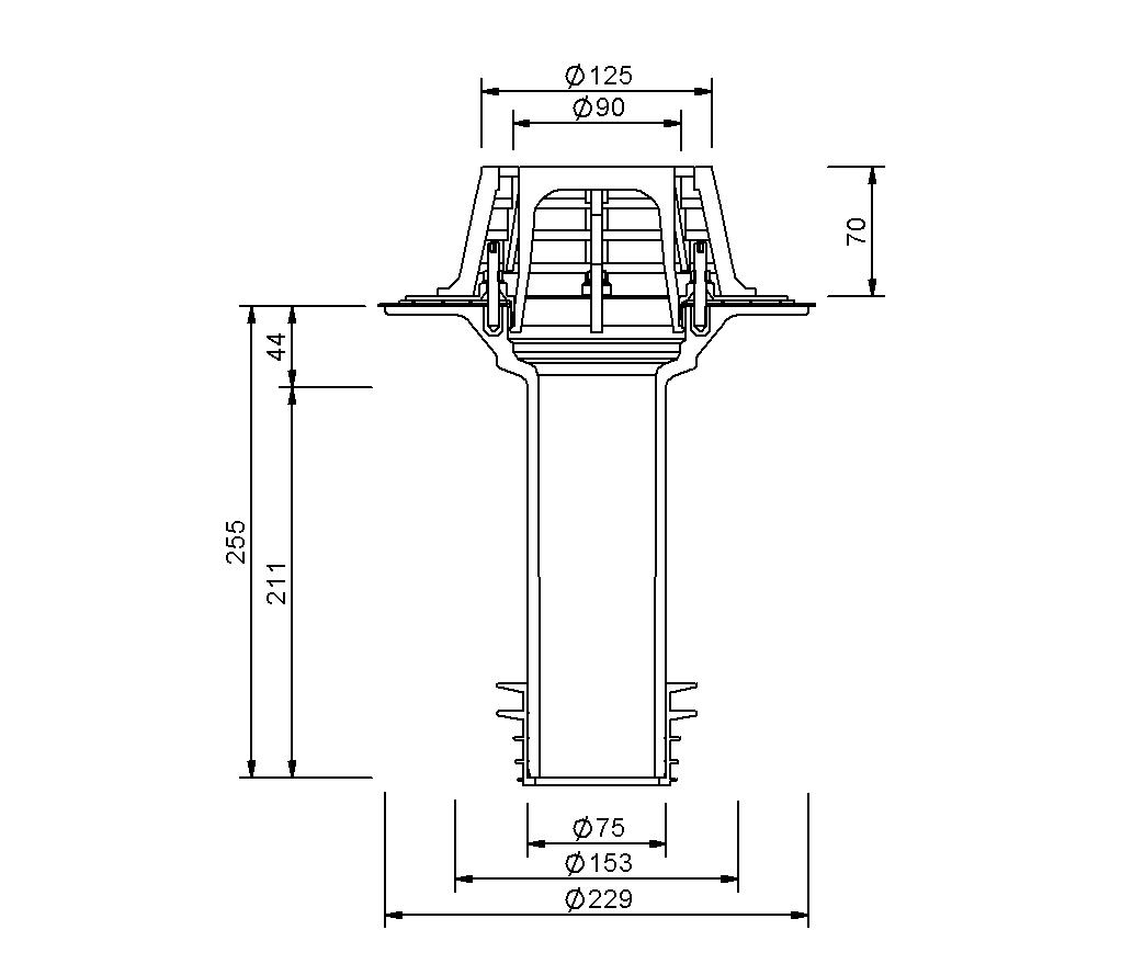 SitaSani® DN 70 - Sanierungsgully