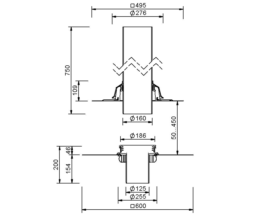 SitaVent Fireguard® DN 125 - Brandschutzlüfter