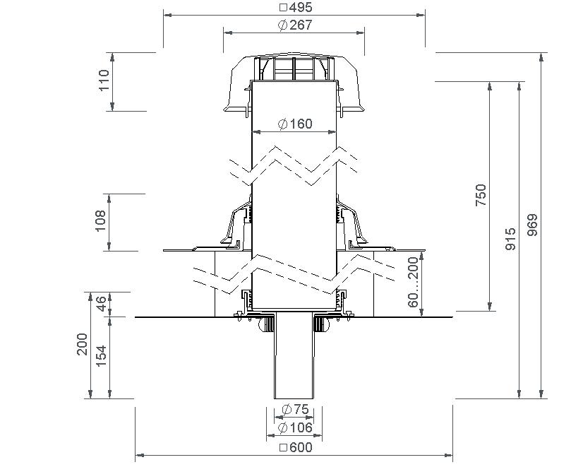 SitaVent Fireguard® DN 70 - Brandschutzlüfter