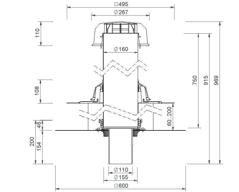 SitaVent Fireguard® DN 100 - Brandschutzlüfter