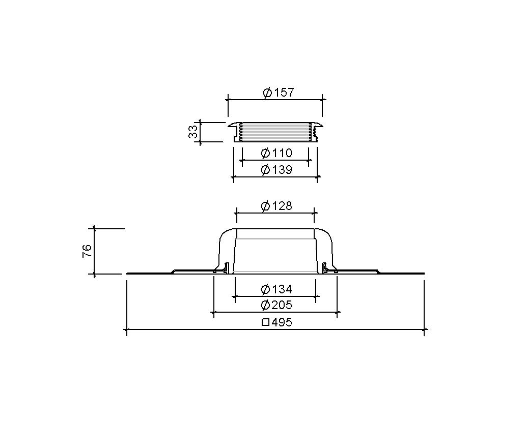 SitaVent DN 100 - Grundplatte