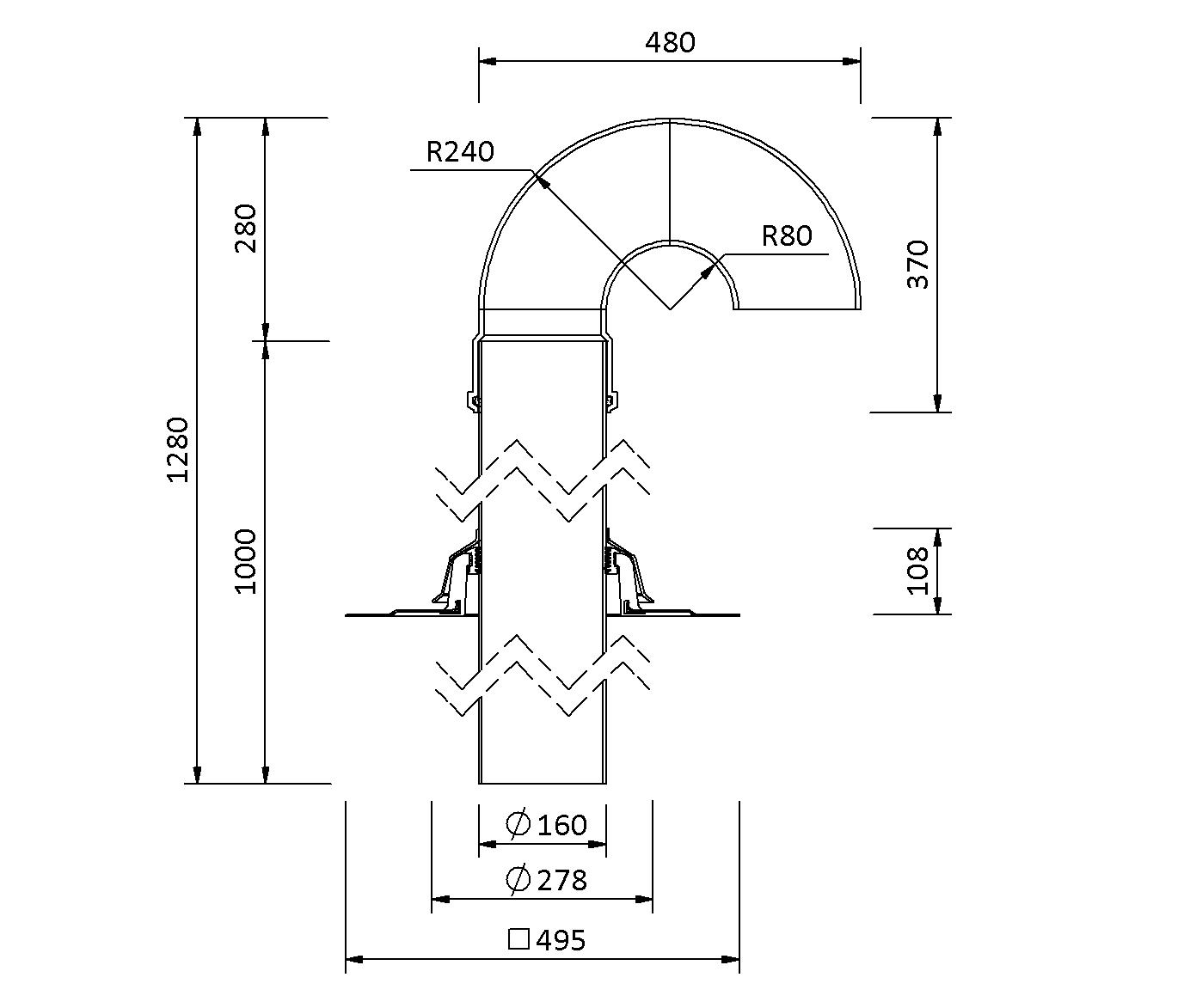 Кровельный вентилятор-проходник SitaVent DN 150 - проходники